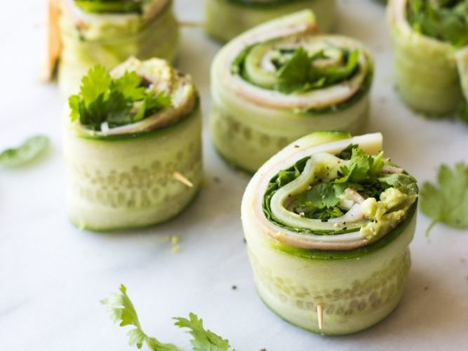 cucumber sushi with inside the roll is veggies and meat. a sushi replacement for kids. for this food entry. caribu mommy mom mother's blog that gives parenting advice for kids, children, toddlers, preschoolers.