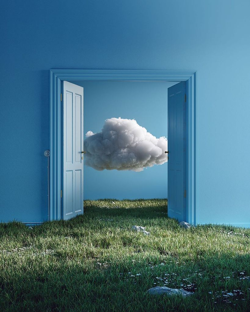 the room is painted blue with real grass indoors and there are 3d clouds inside the other room. It's visually shocking. caribu mommy mom mother's blog that gives parenting advice for kids, children, toddlers, preschoolers.