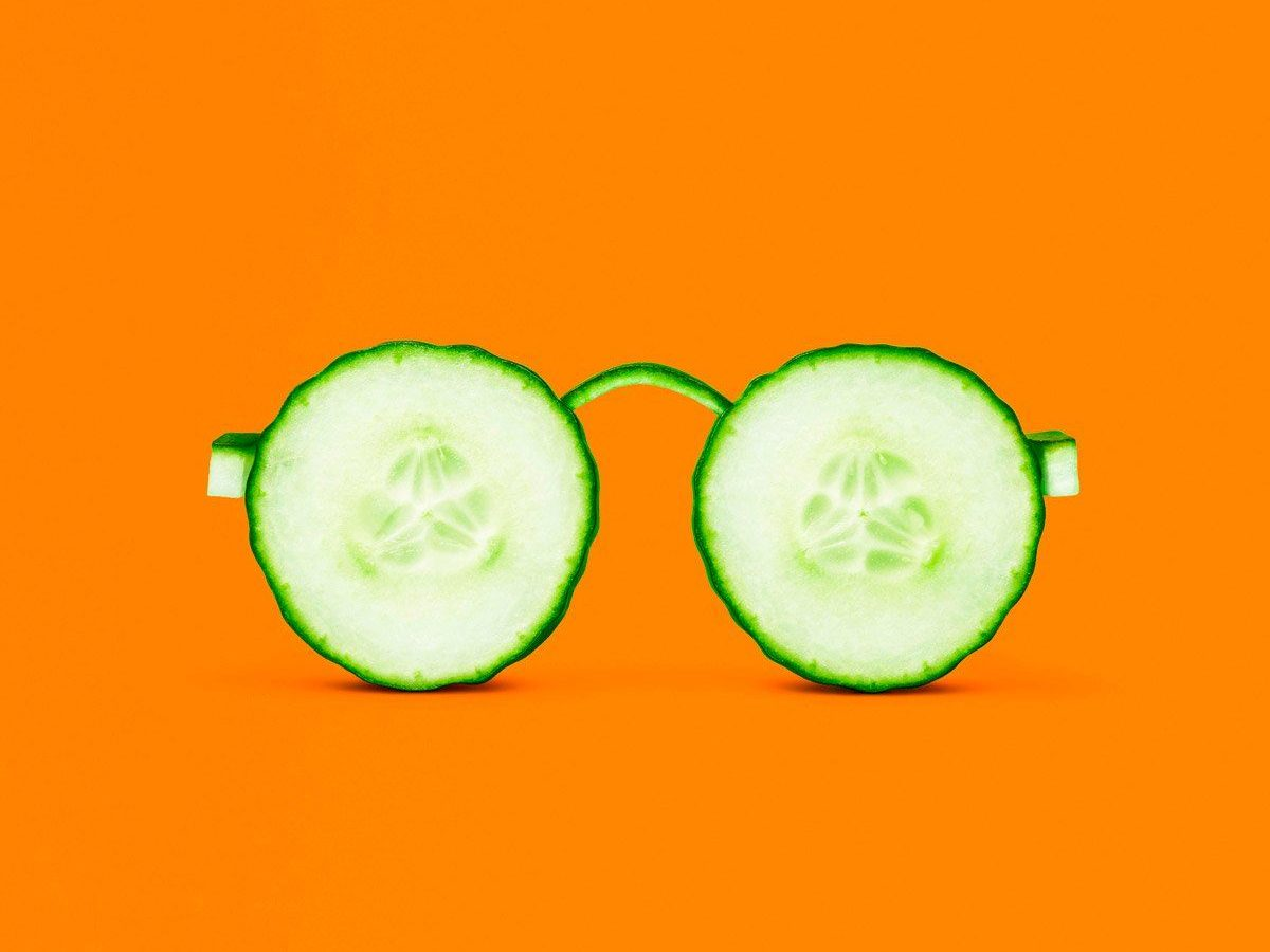 glasses shape made out of cucumber. caribu mommy mom mother's blog that gives parenting advice for kids, children, toddlers, preschoolers.